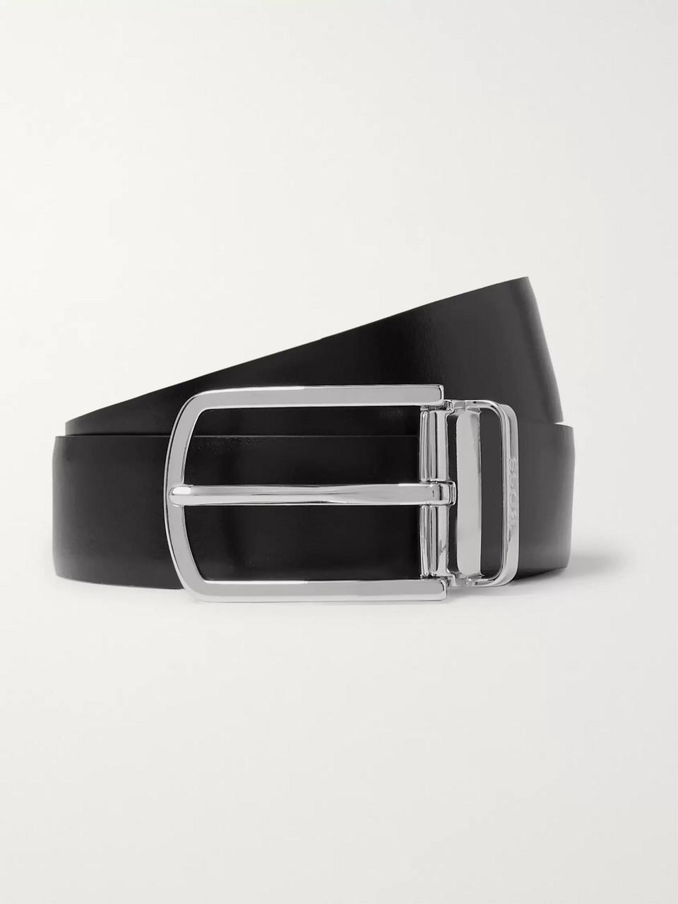 d72160252f Hugo Boss 4cm Black and Brown Ofisy Reversible Leather Belt