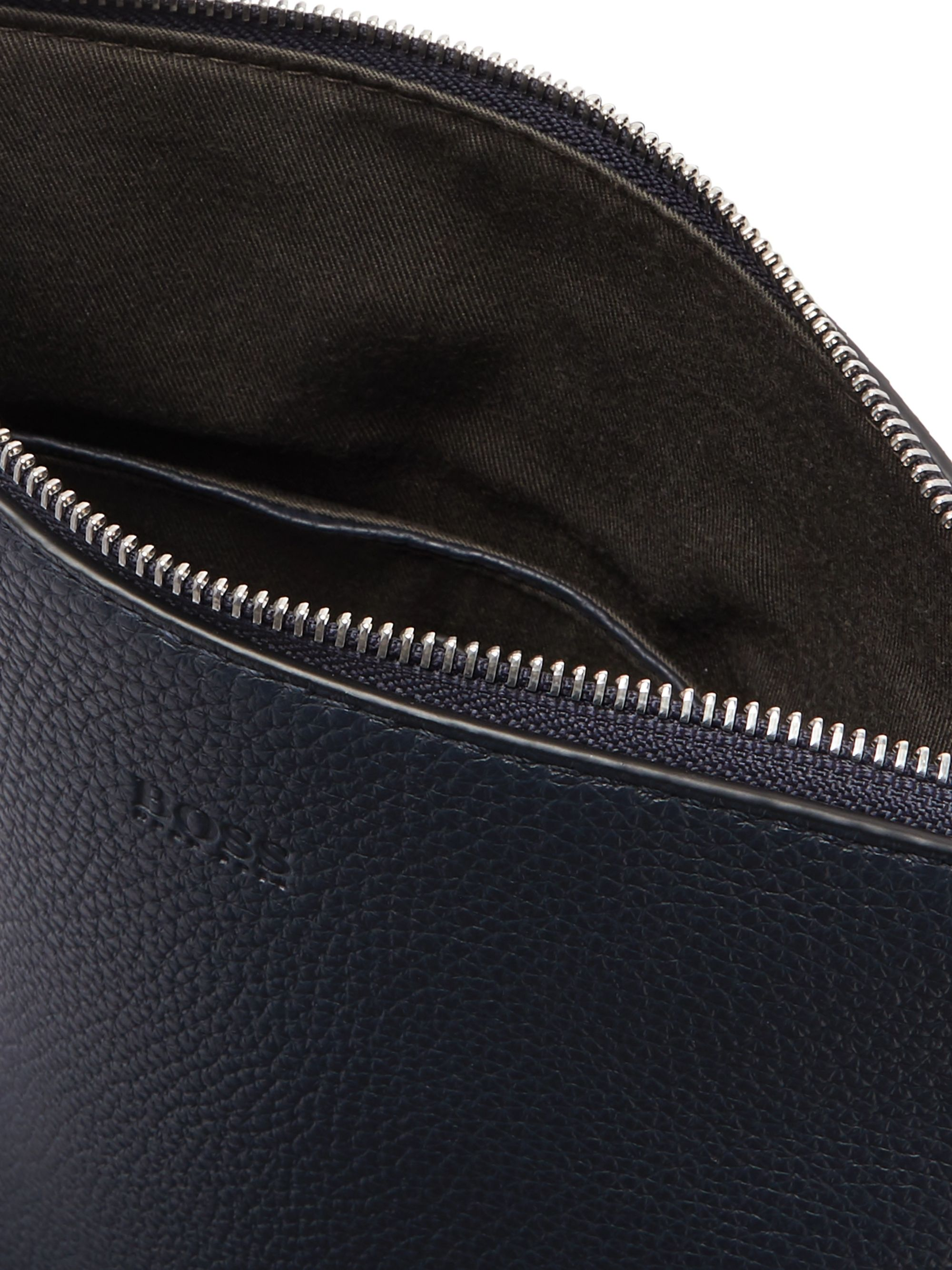 Hugo Boss Full-Grain Leather Messenger Bag
