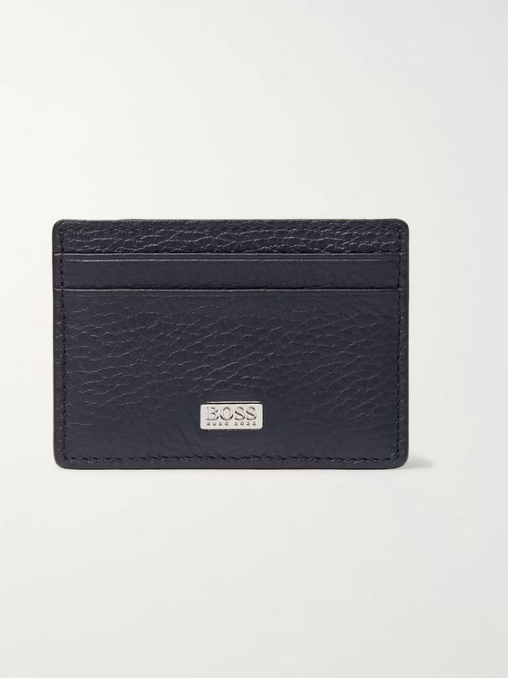 Hugo Boss Crosstown Full-Grain Leather Cardholder with Money Clip