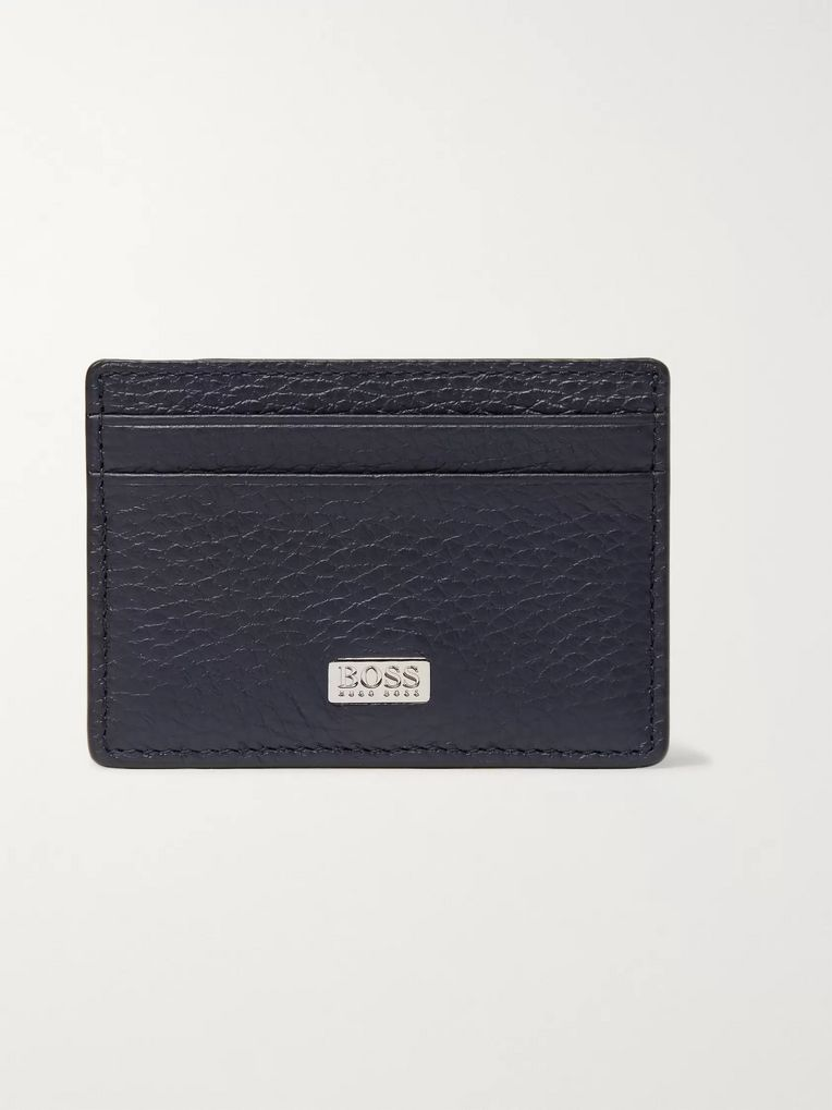 Hugo Boss Full-Grain Leather Cardholder