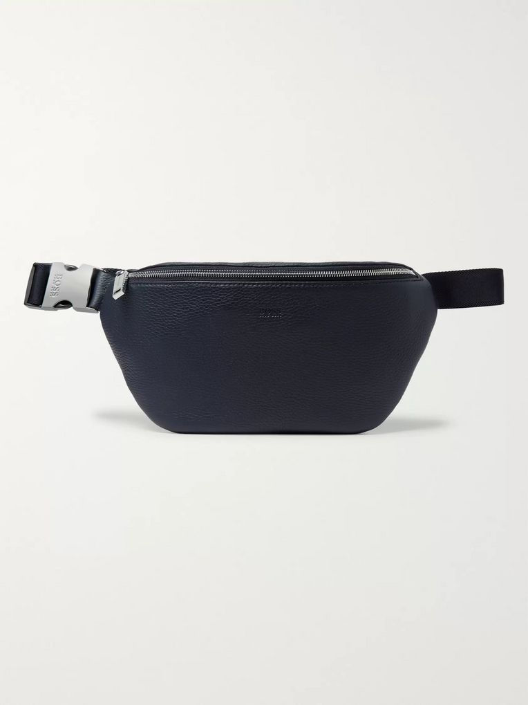 Hugo Boss Crosstown Full-Grain Leather Belt Bag