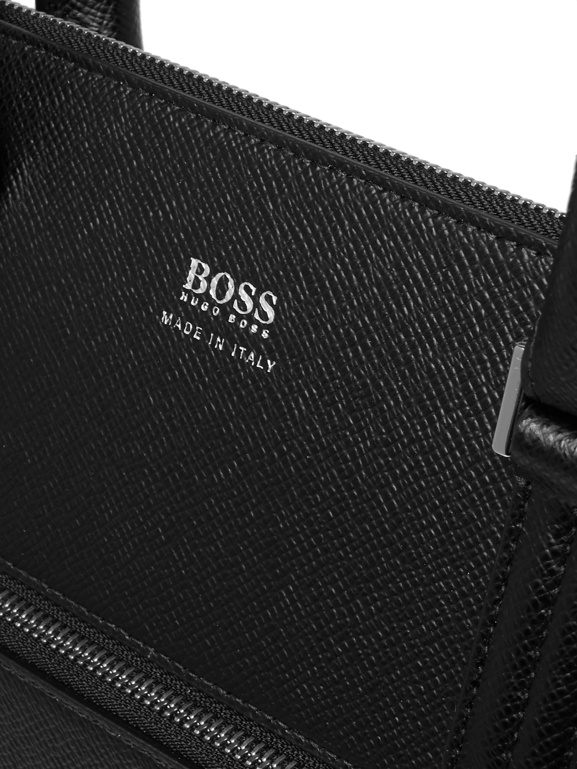 Hugo Boss Full-Grain Leather Briefcase