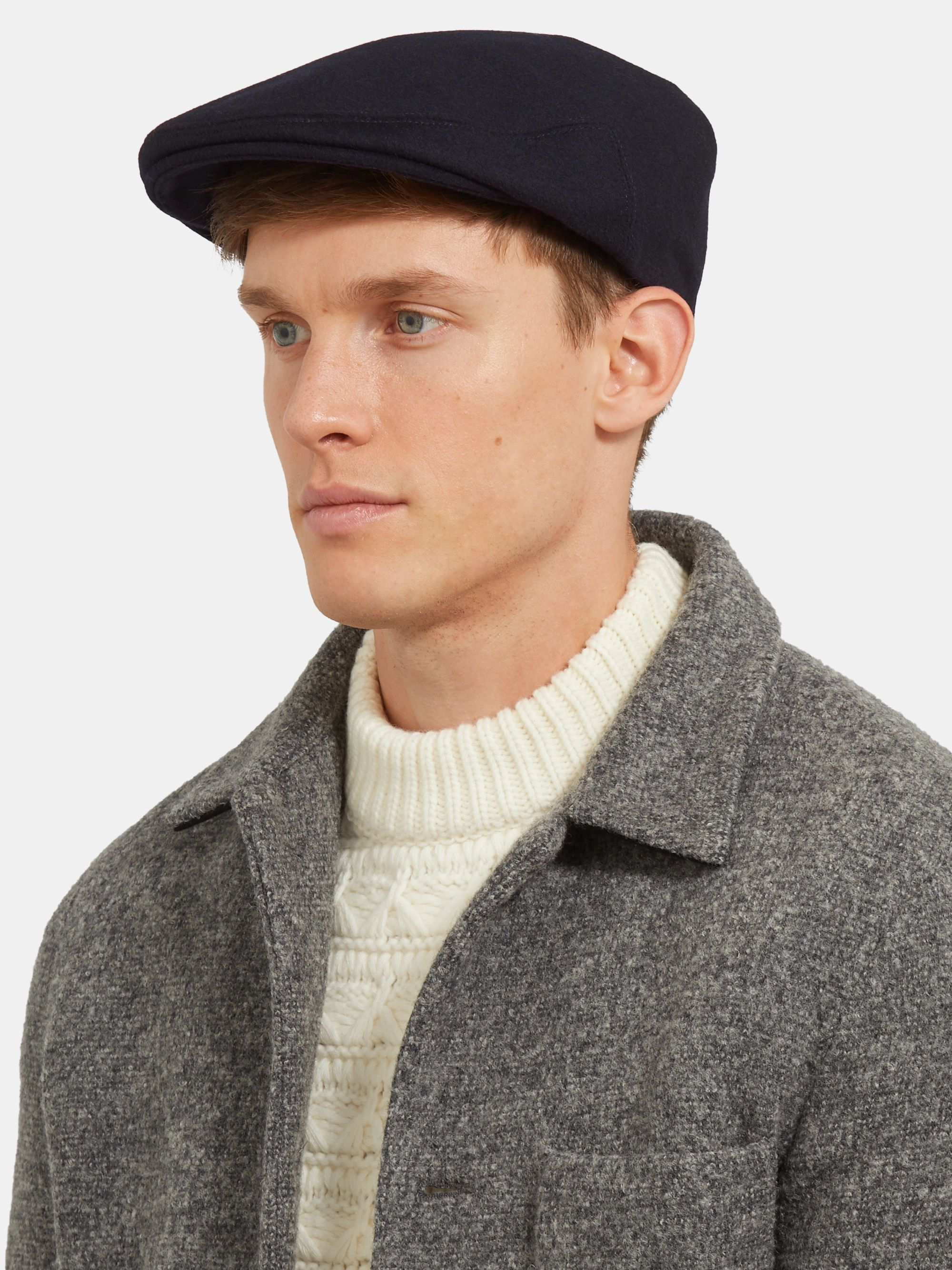 Lock & Co Hatters Glen Wool and Alpaca-Blend Flat Cap