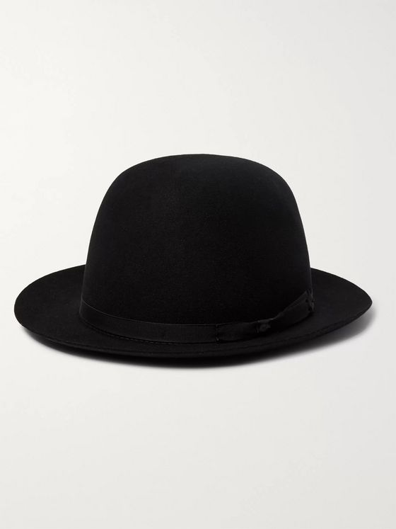 Lock & Co Hatters Voyager Grosgrain-Trimmed Rabbit-Felt Trilby Hat