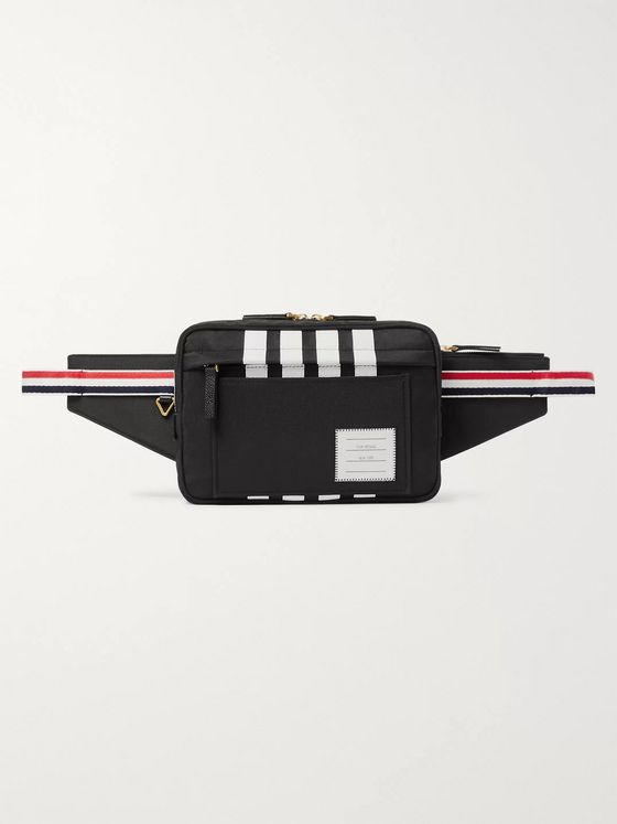 Thom Browne Striped Grosgrain-Trimmed Nylon Belt Bag