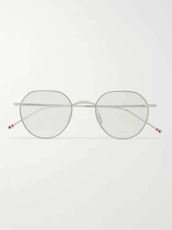 Round-Frame Silver-Tone Optical Glasses