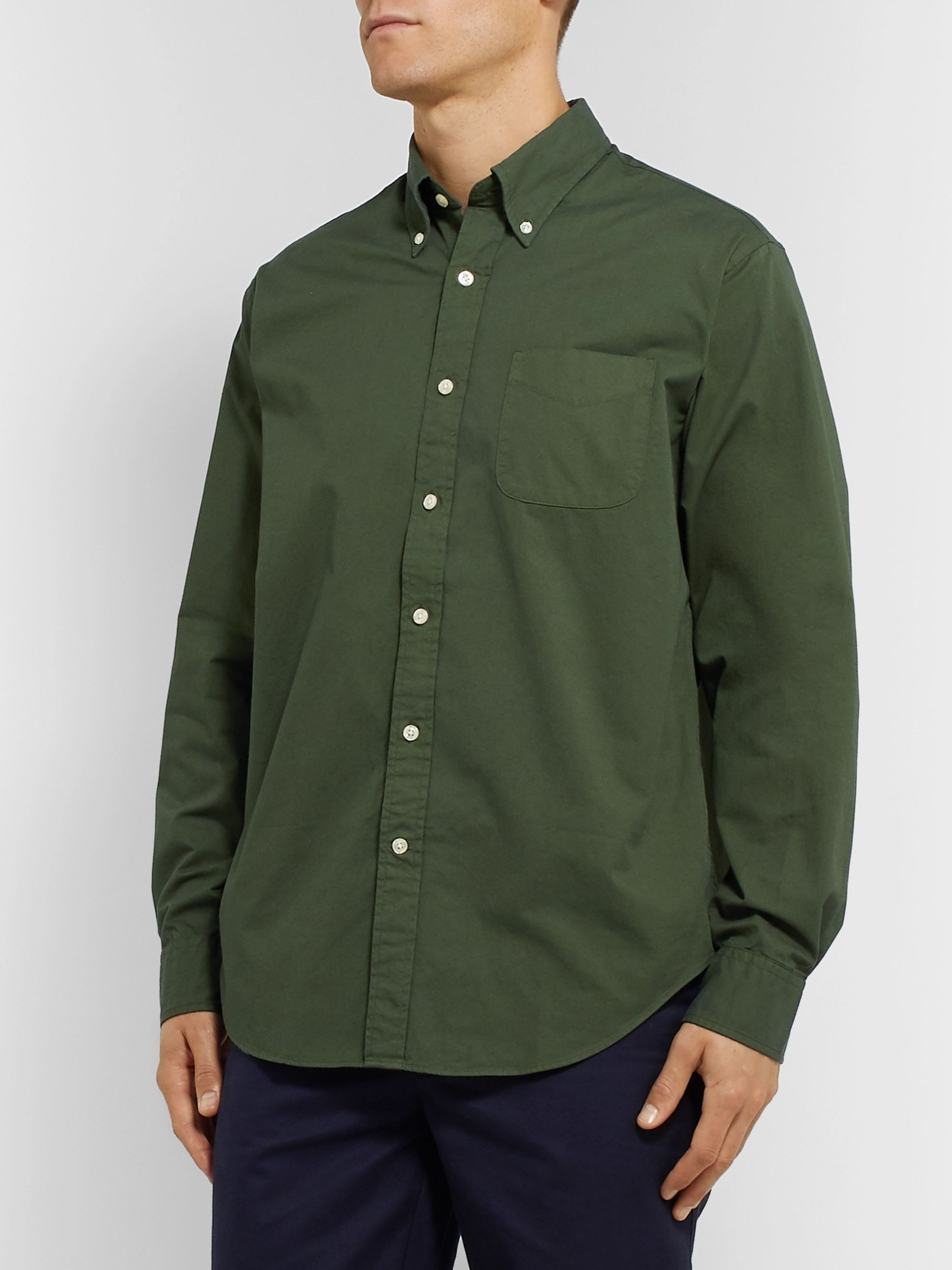 Bellerose Gibbs Button-Down Collar Cotton-Twill Shirt