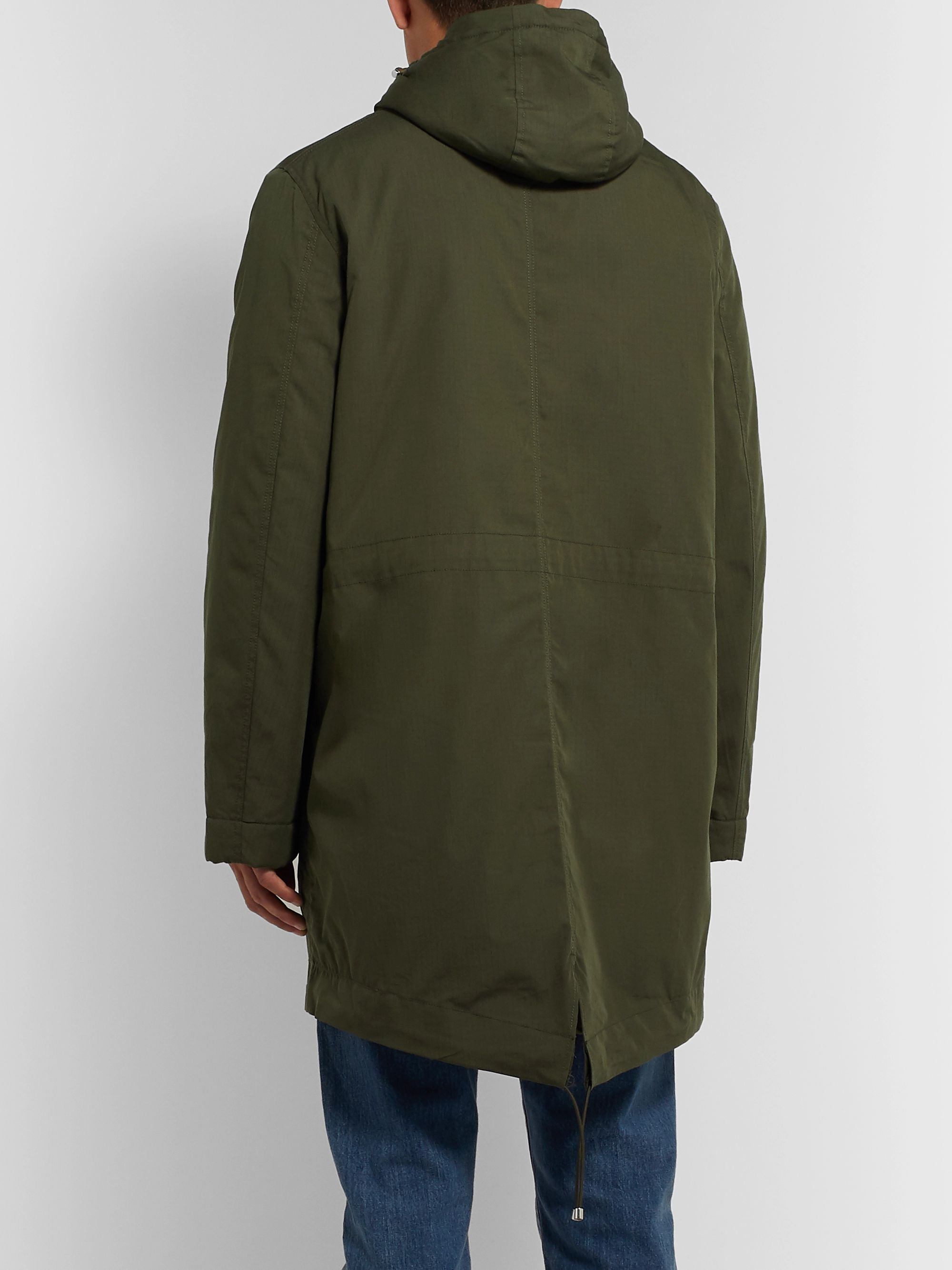 Bellerose Cotton-Blend Ripstop Hooded Parka