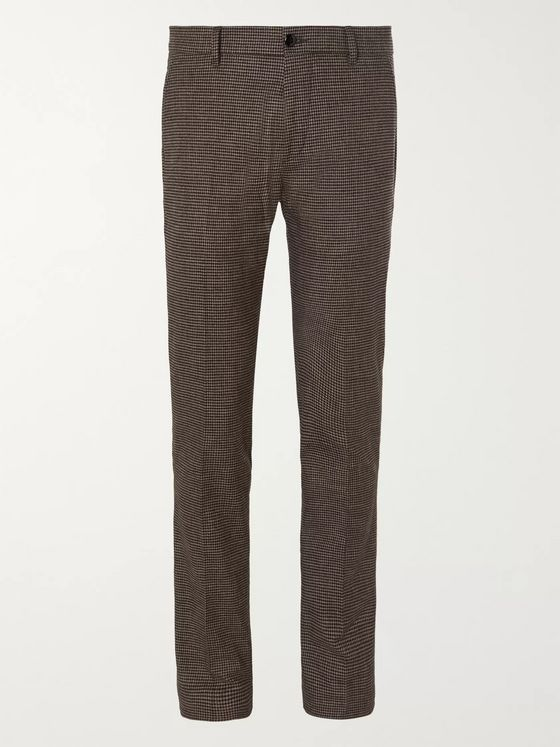 Bellerose Porths Slim-Fit Puppytooth Cotton-Blend Trousers