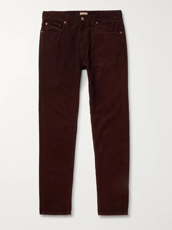 Bellerose Slim-Fit Cotton-Corduroy Trousers