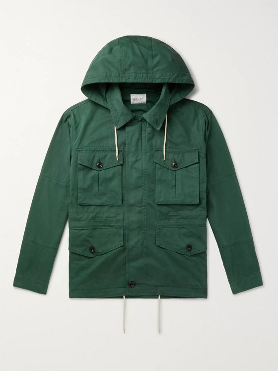 Albam Cotton-Gabardine Hooded Field Jacket