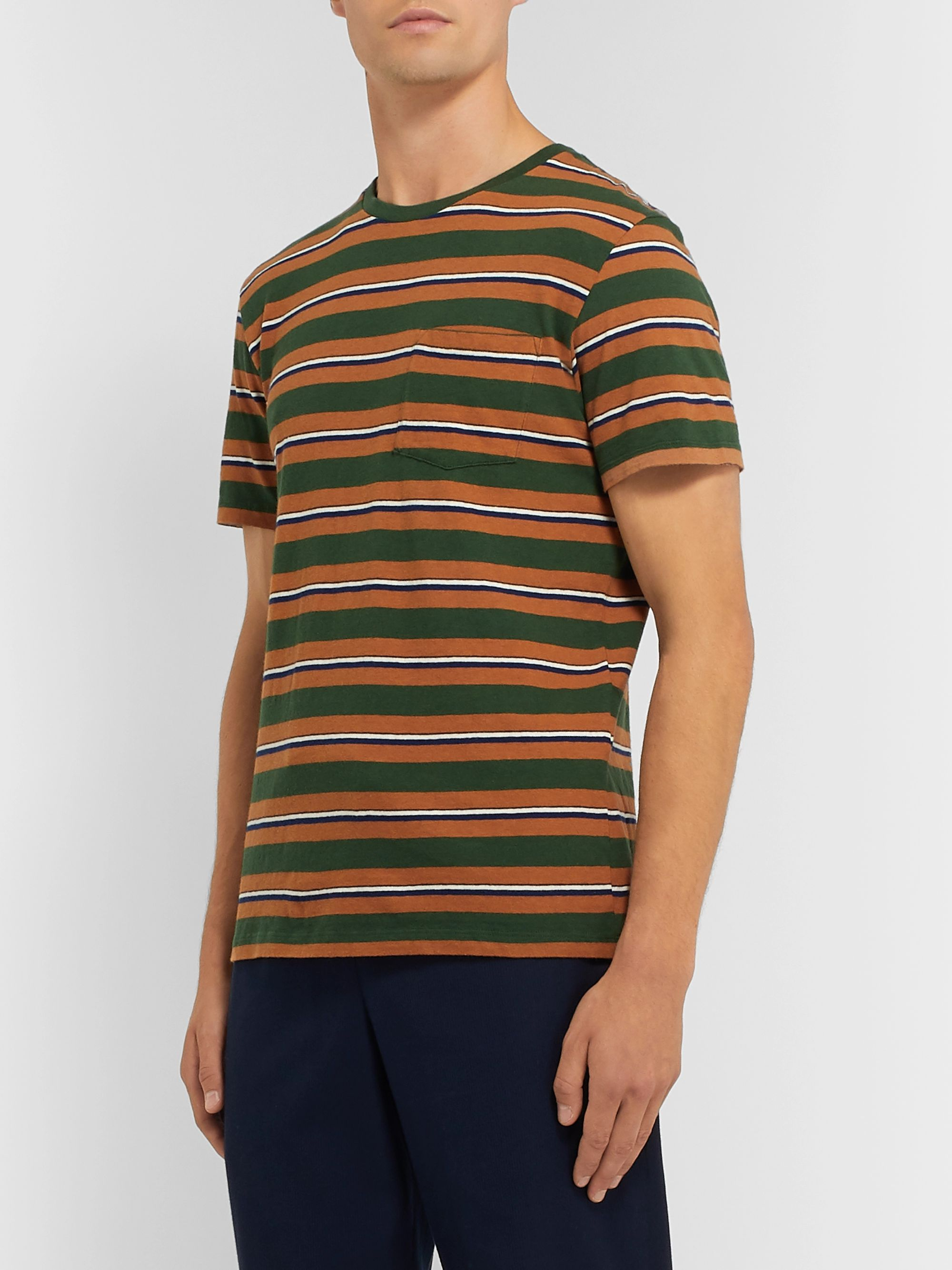 Bellerose Voley Striped Cotton-Jersey T-Shirt