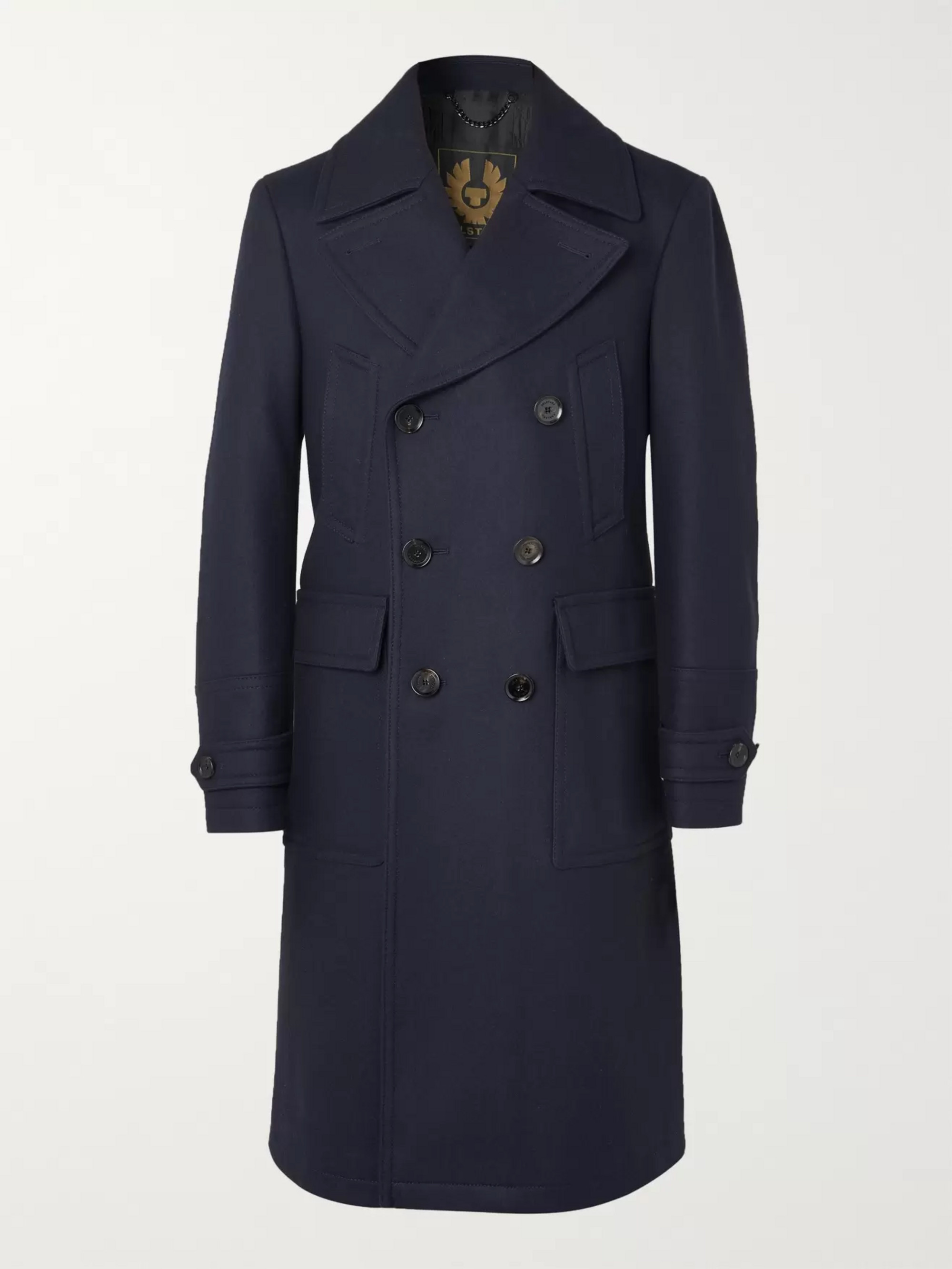 Belstaff New Mildford Double-Breasted Padded Wool-Blend Overcoat