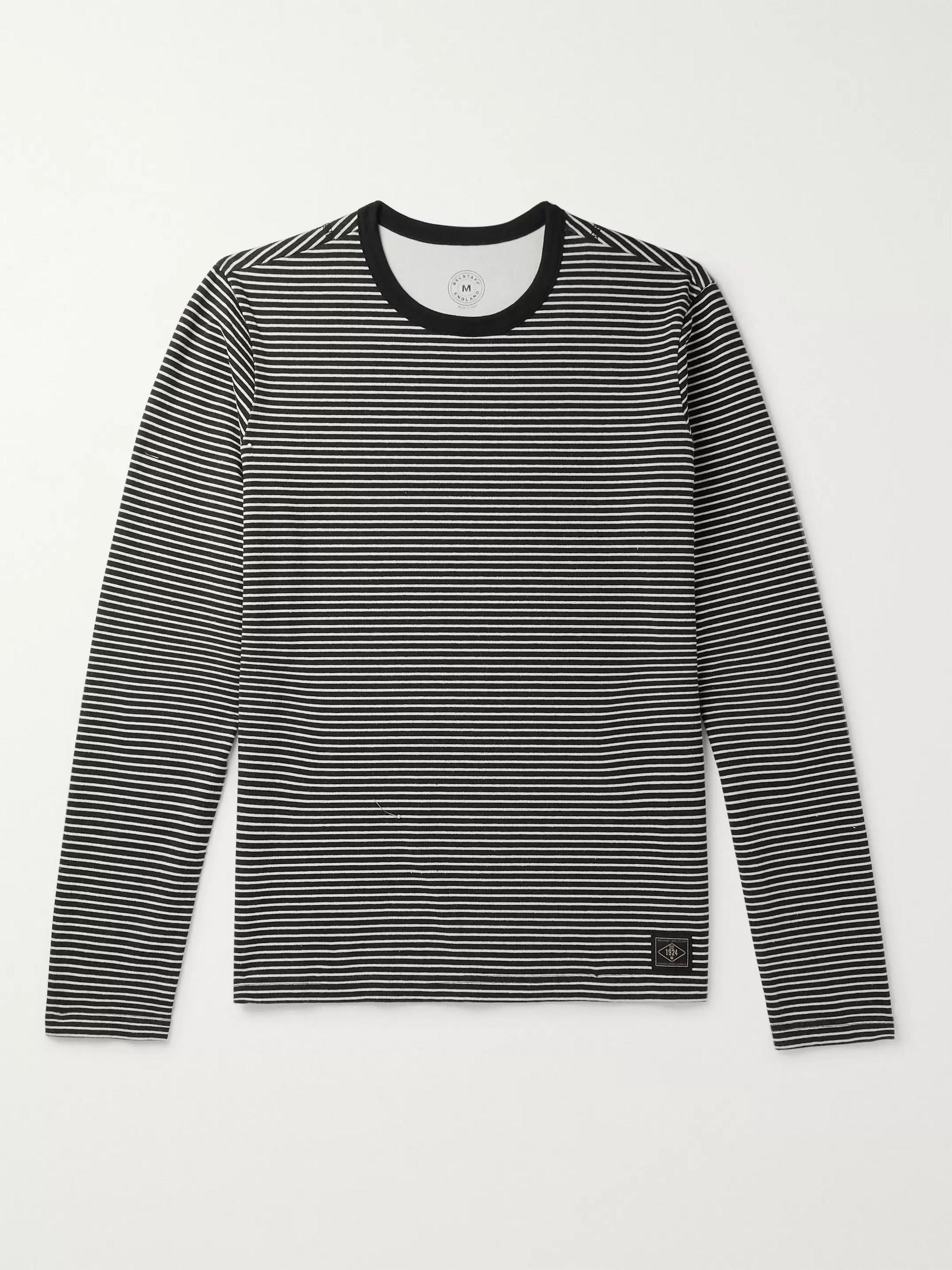 buy popular 6e2d7 3519c Gurnard Striped Brushed-Cotton Jersey T-Shirt