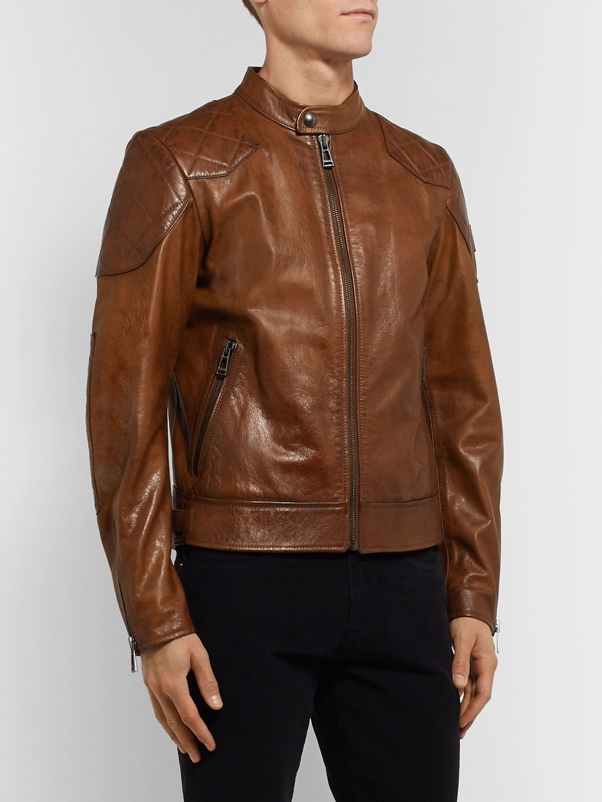 Belstaff Outlaw Leather Biker Jacket
