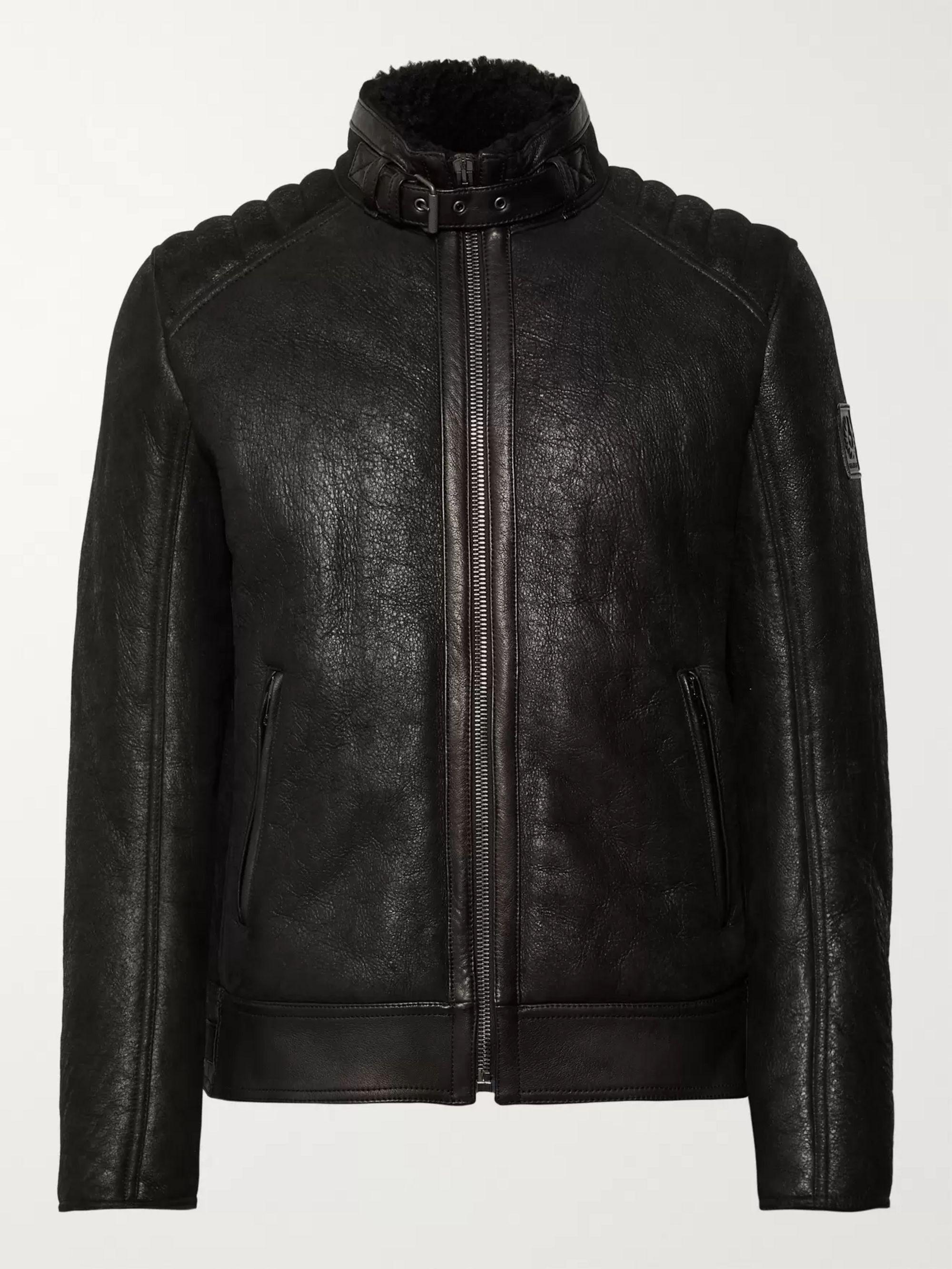 price reduced reasonably priced outlet online Westlake 2.0 Slim-Fit Leather-Trimmed Shearling Biker Jacket
