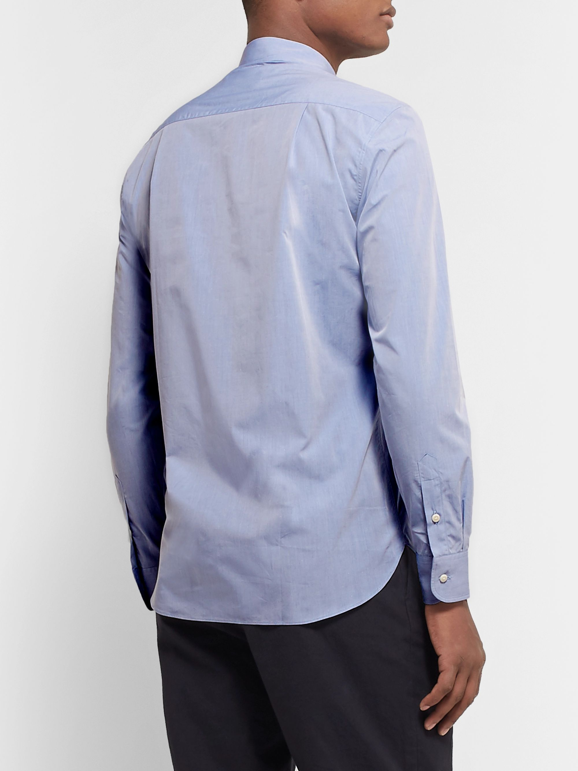 De Bonne Facture Slim-Fit Cotton-Poplin Shirt