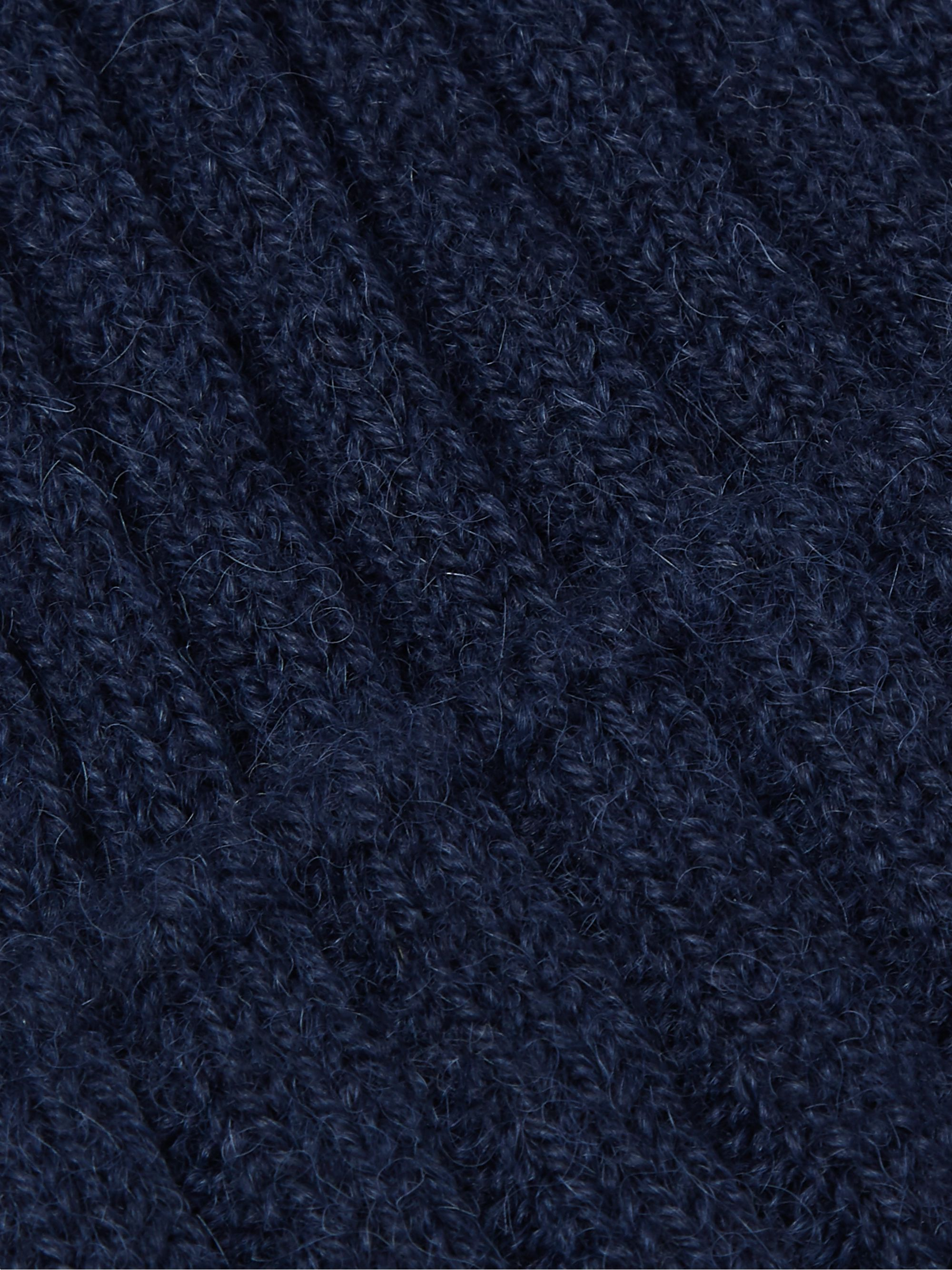 De Bonne Facture Ribbed Alpaca and Wool-Blend Beanie