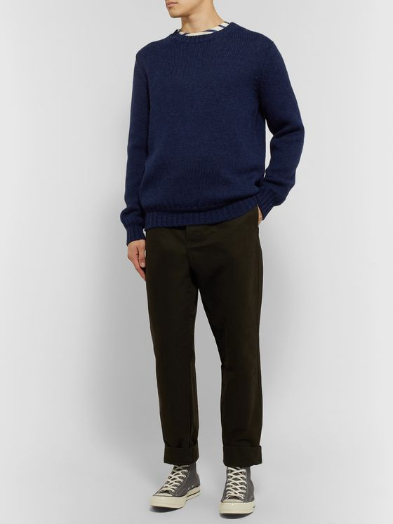 De Bonne Facture Wool and Alpaca-Blend Sweater