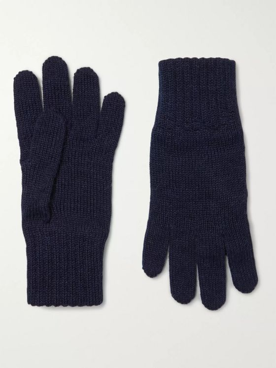 De Bonne Facture Alpaca and Wool-Blend Gloves
