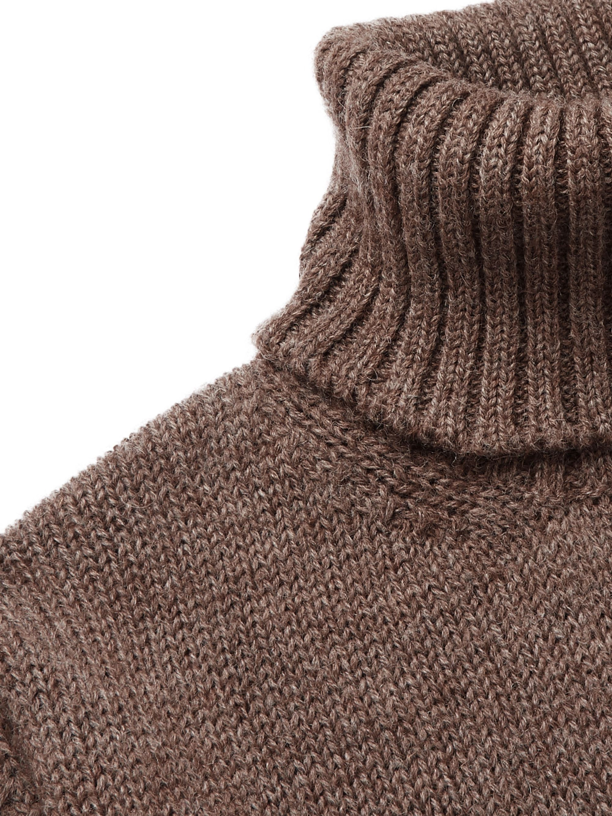 De Bonne Facture Mélange Wool and Alpaca-Blend Rollneck Sweater