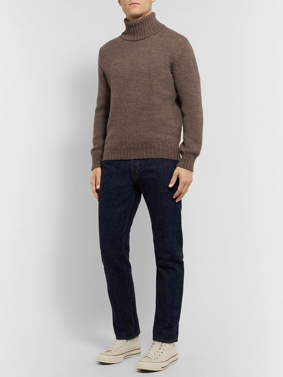 De Bonne Facture Wool and Alpaca-Blend Rollneck Sweater