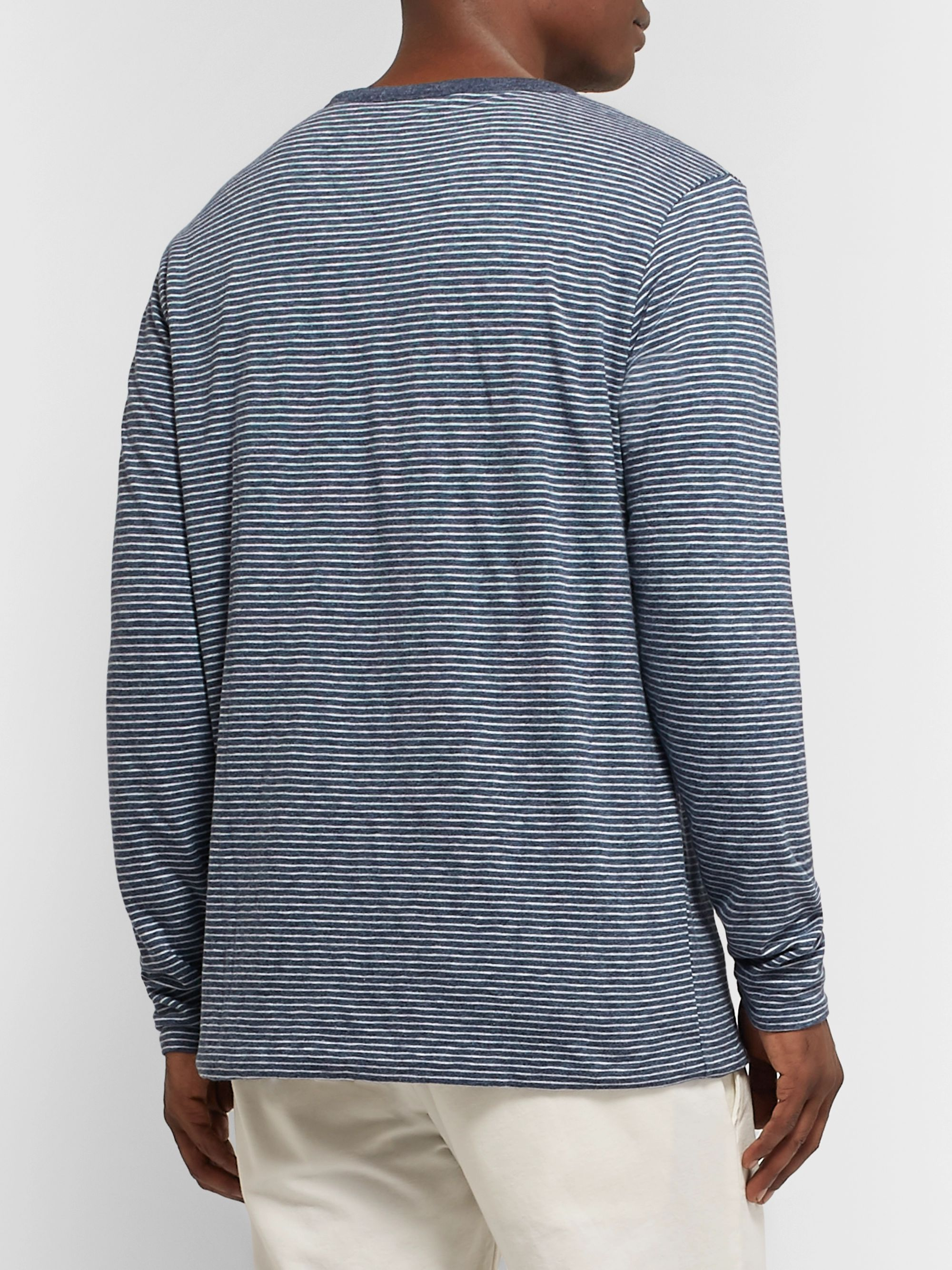 Faherty Reversible Striped Organic Cotton-Blend T-Shirt