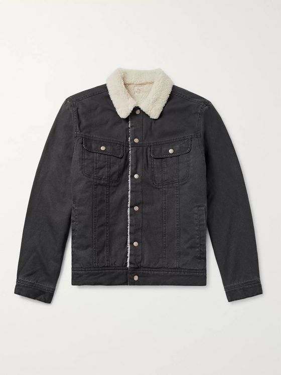 Faherty Stormrider Faux Shearling-Lined Denim Jacket