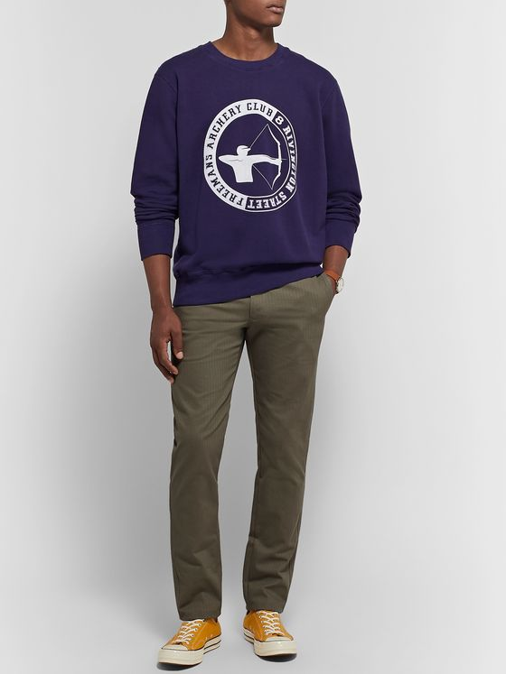 Freemans Sporting Club Printed Loopback Cotton-Jersey Sweatshirt
