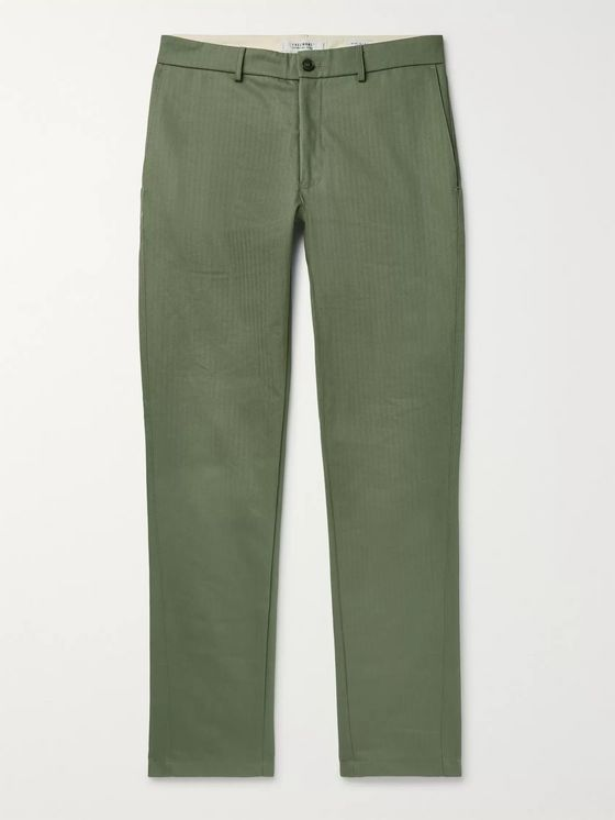 Freemans Sporting Club Herringbone Cotton Trousers