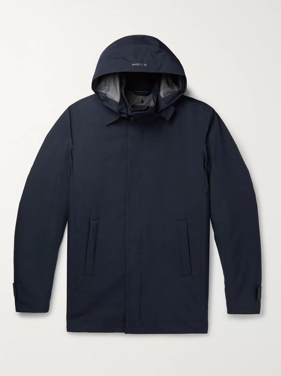 Herno Laminar 2-in-1 GORE-TEX INFINIUM Hooded Jacket with Detachable Checked Wool-Blend Liner