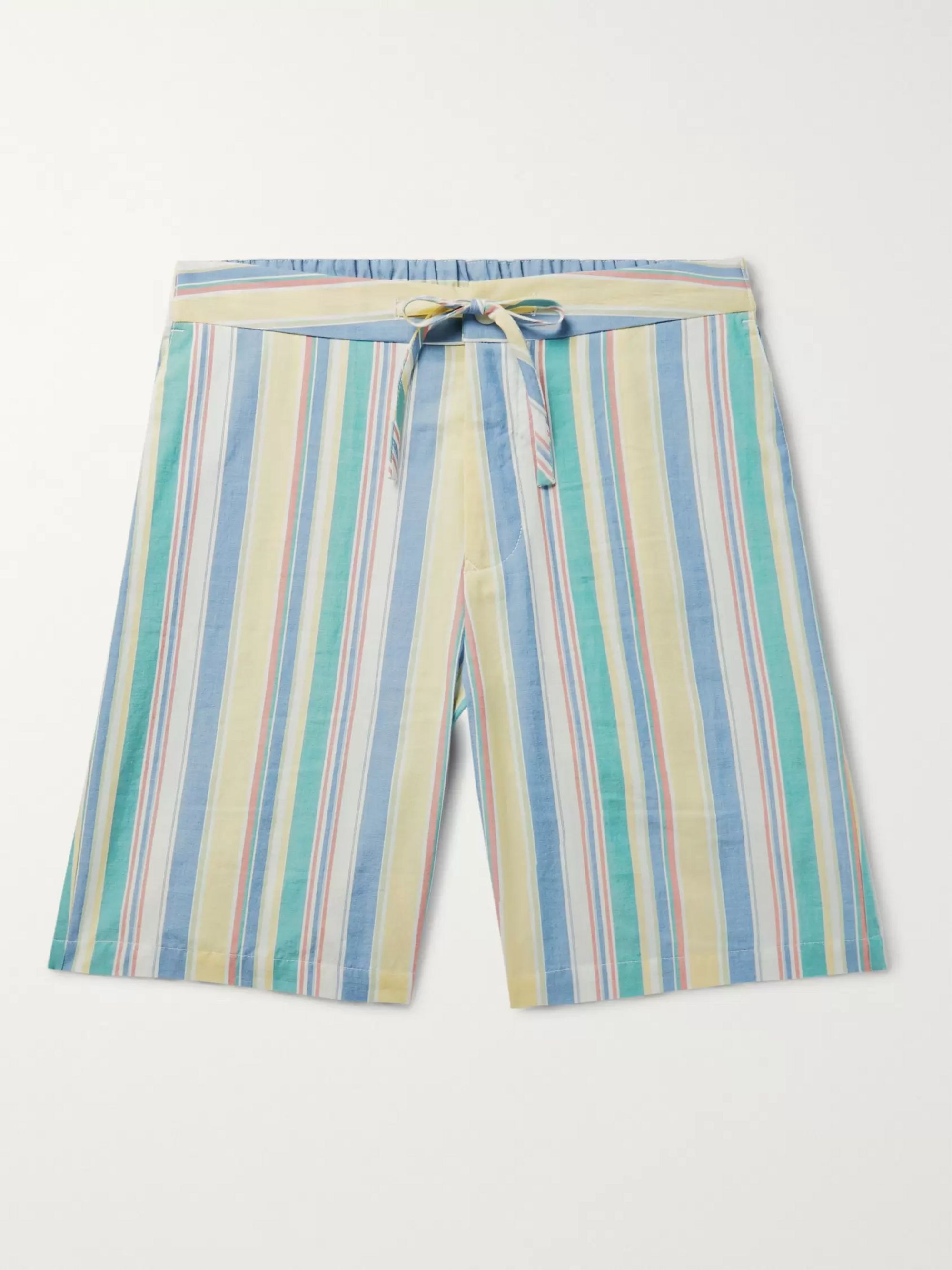 Freemans Sporting Club Slim-Fit Striped Cotton Drawstring Shorts