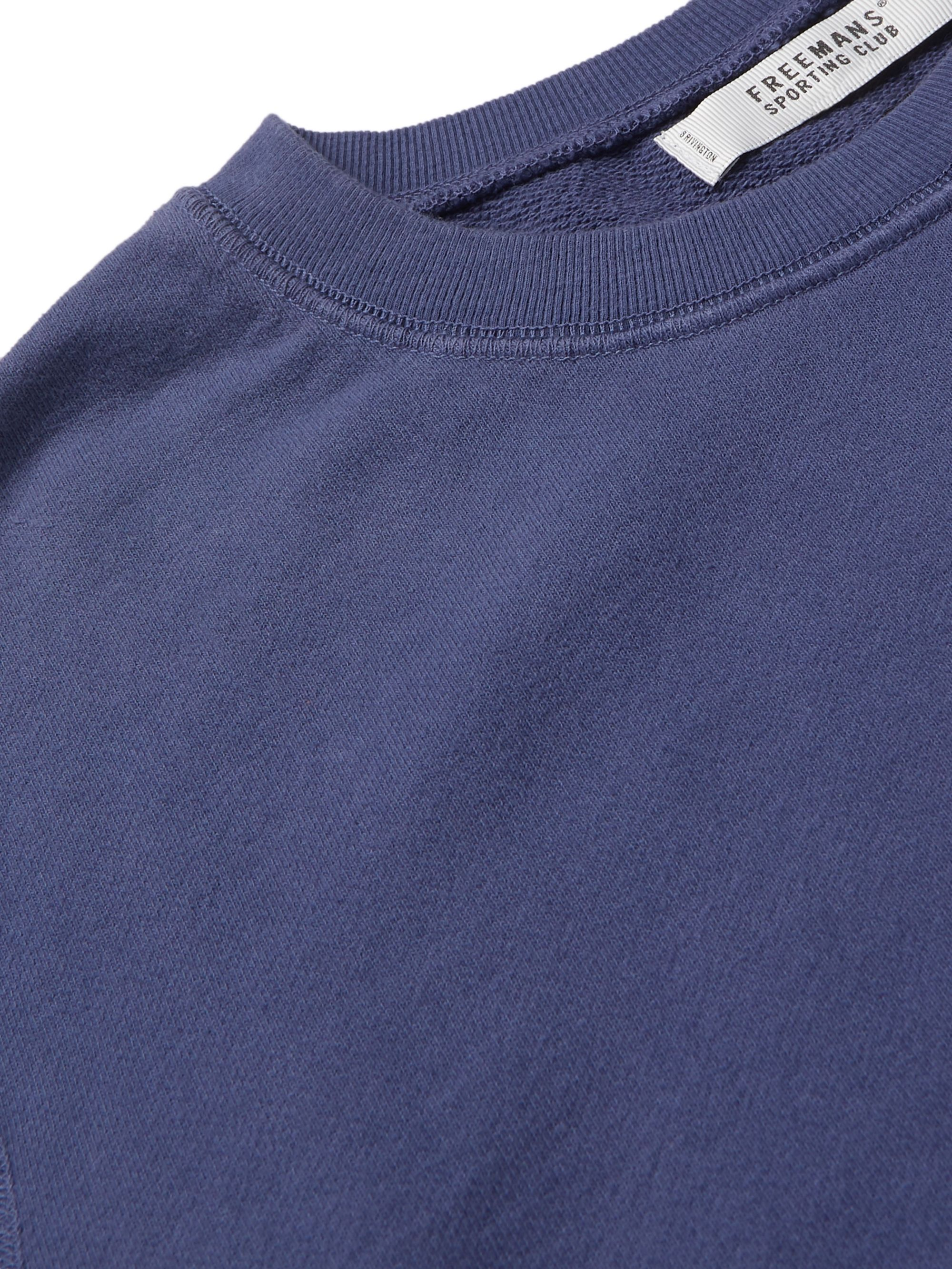 Freemans Sporting Club Garment-Dyed Loopback Cotton-Jersey Sweatshirt