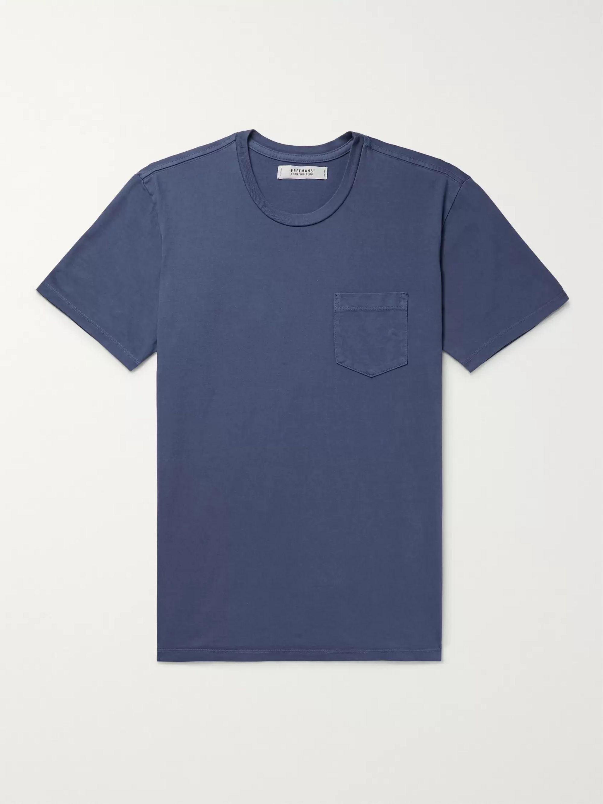 Freemans Sporting Club Contrast-Tipped Cotton-Jersey T-Shirt