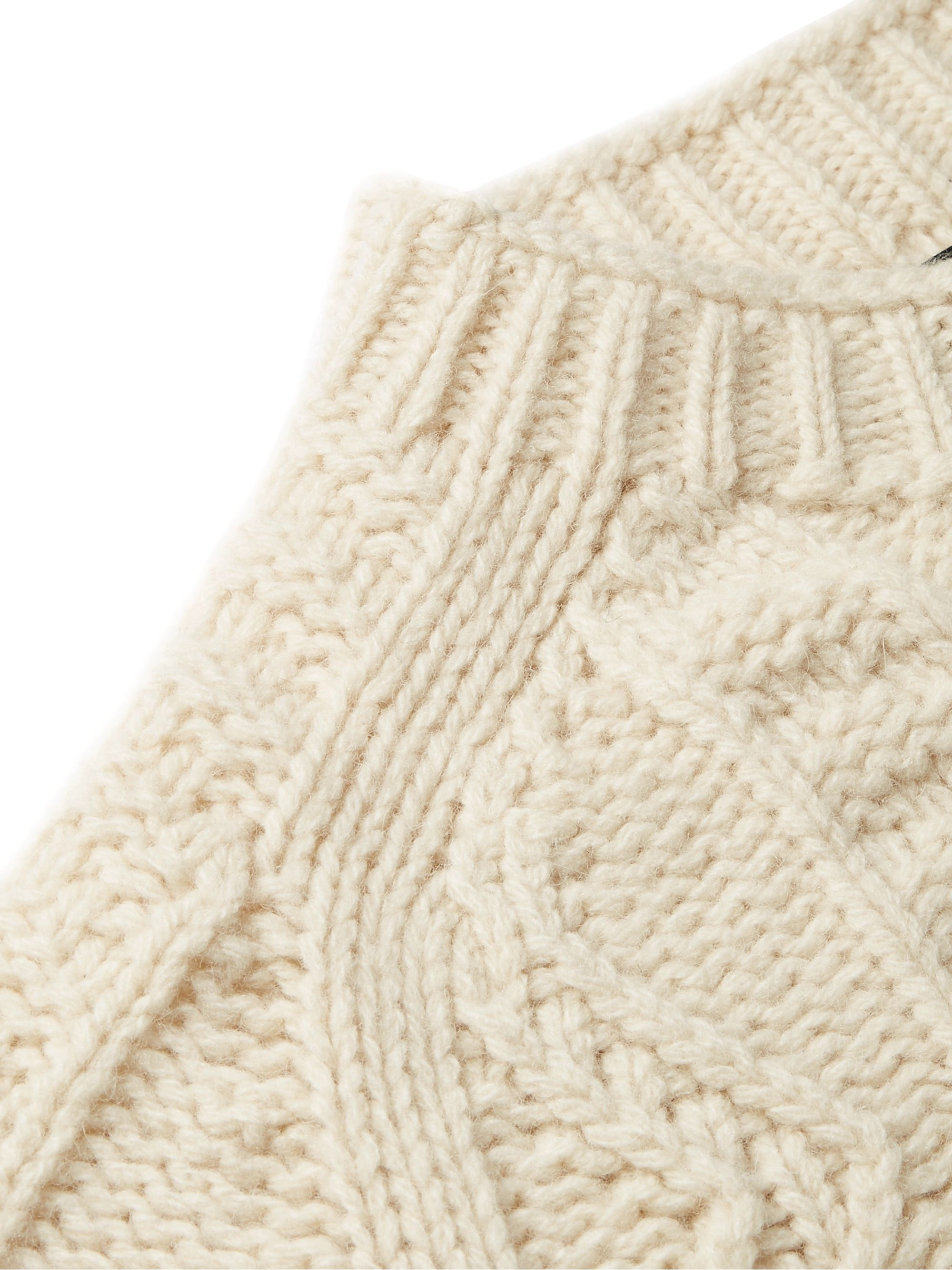 Howlin' Slim-Fit Cable-Knit Virgin Wool Sweater