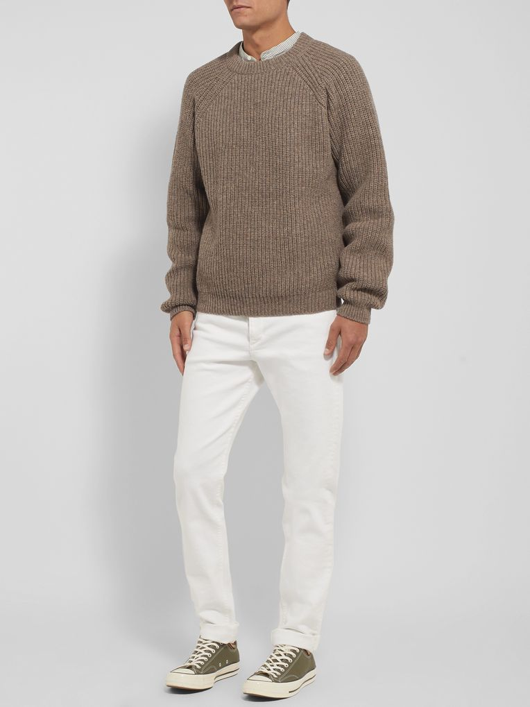 Holiday Boileau Austin Ribbed Mélange Wool Sweater