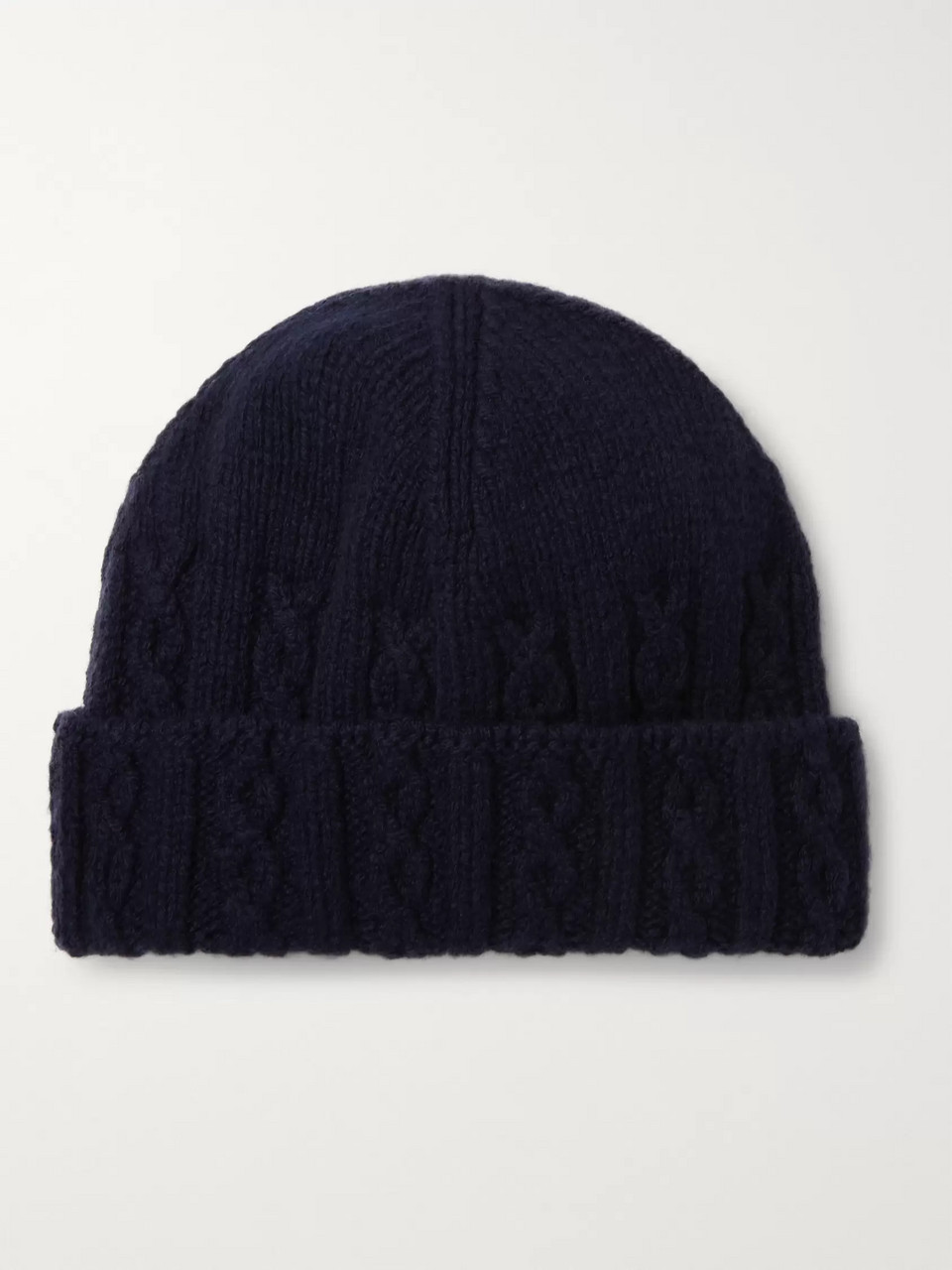 Inis Meáin Cable-Knit Merino Wool Beanie