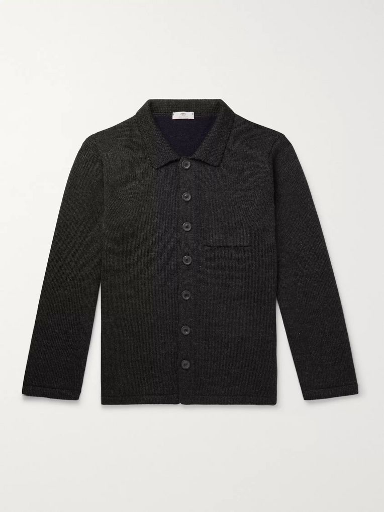 Inis Meáin Slim-Fit Merino Wool, Baby Alpaca and Silk-Blend Jacket