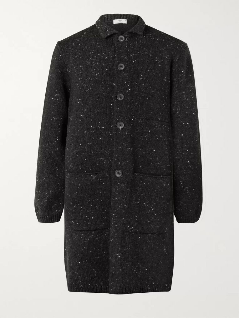 Inis Meáin Merino Wool and Cashmere-Blend Coat
