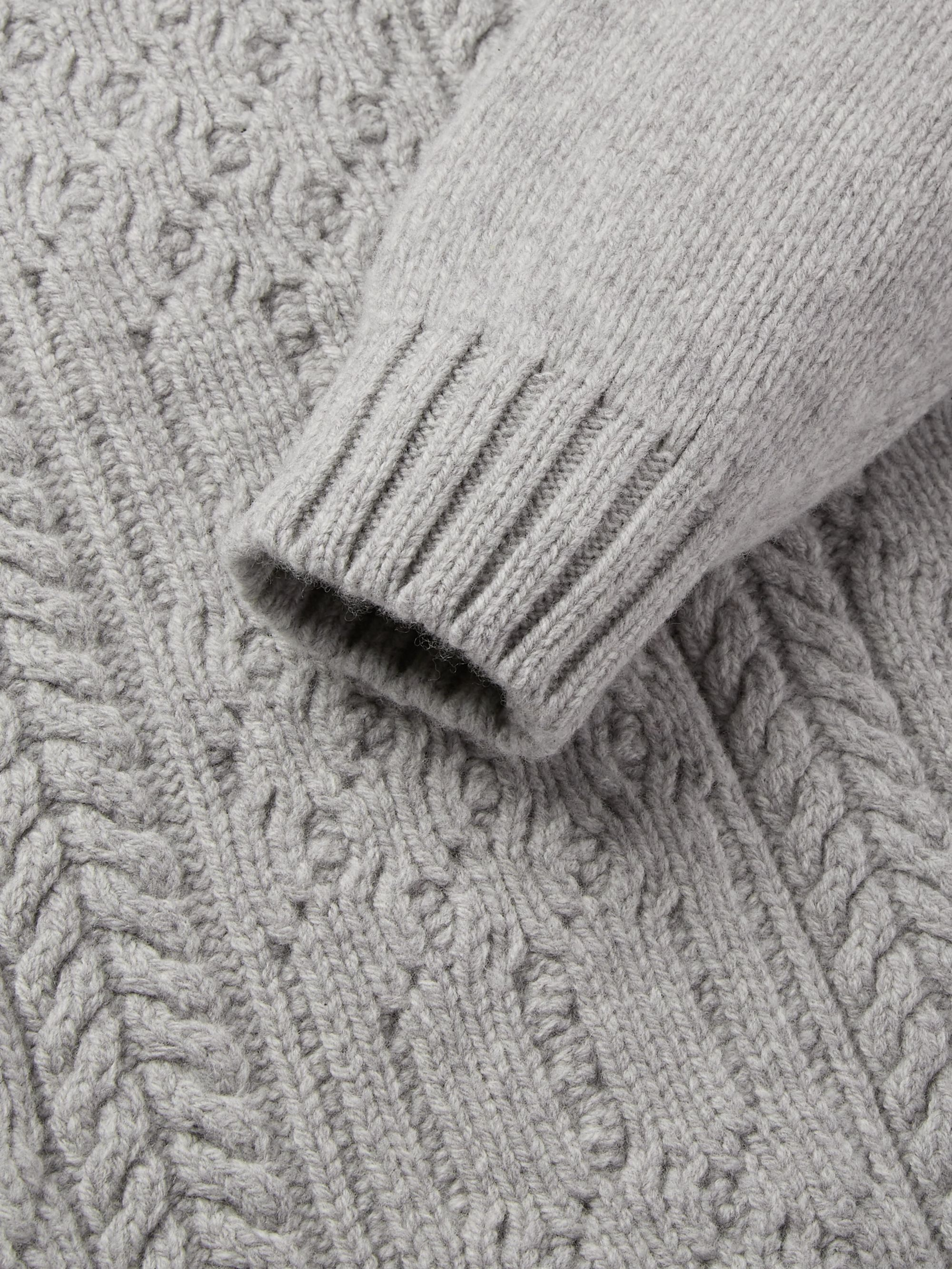 Inis Meáin Cable-Knit Merino Wool Rollneck Sweater