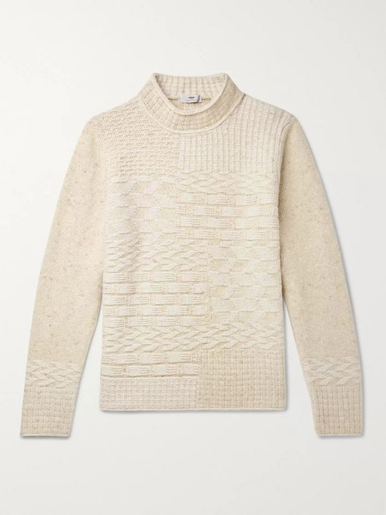 Inis Meáin Textured Wool and Cashmere-Blend Sweater