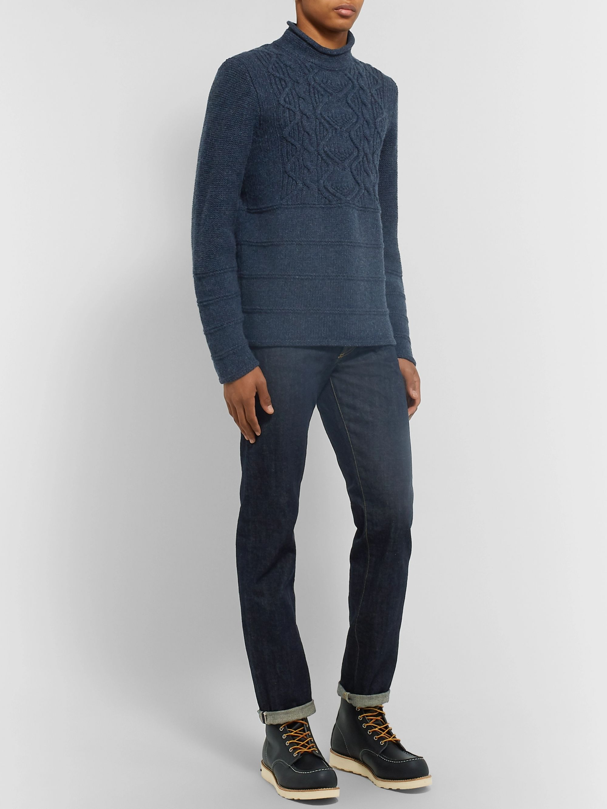 Inis Meáin Cable-Knit Merino Wool Sweater