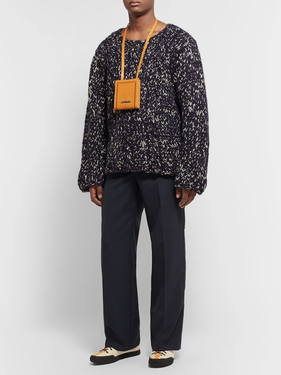 Jacquemus Navy Wool Suit Trousers