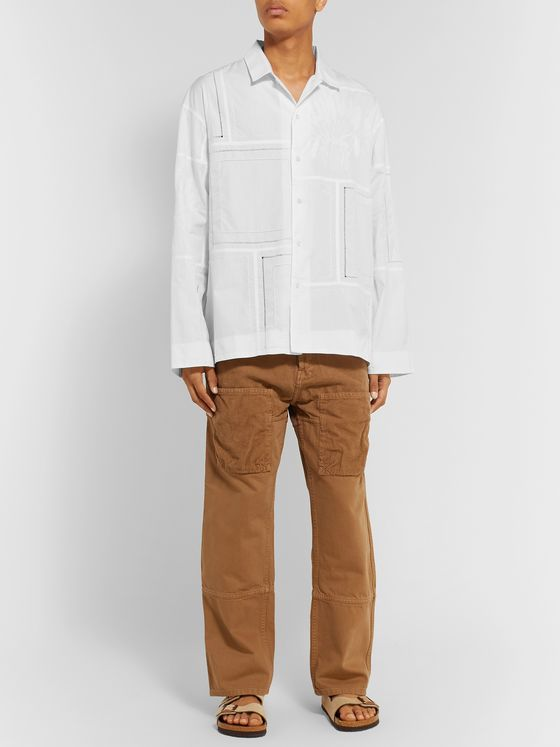 Jacquemus Mouchoirs Embroidered Cotton Shirt