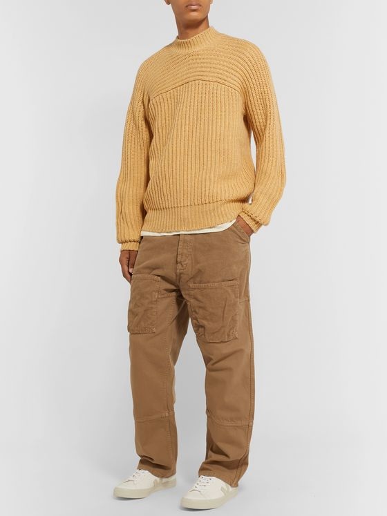 Jacquemus Wide-Leg Cotton-Corduroy Cargo Trousers