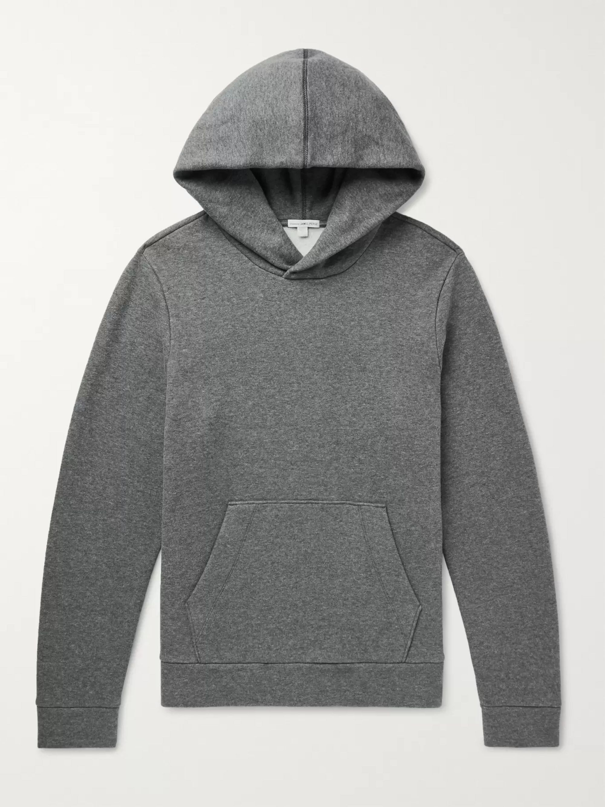 James Perse Fleece-Back Cotton-Jersey Hoodie
