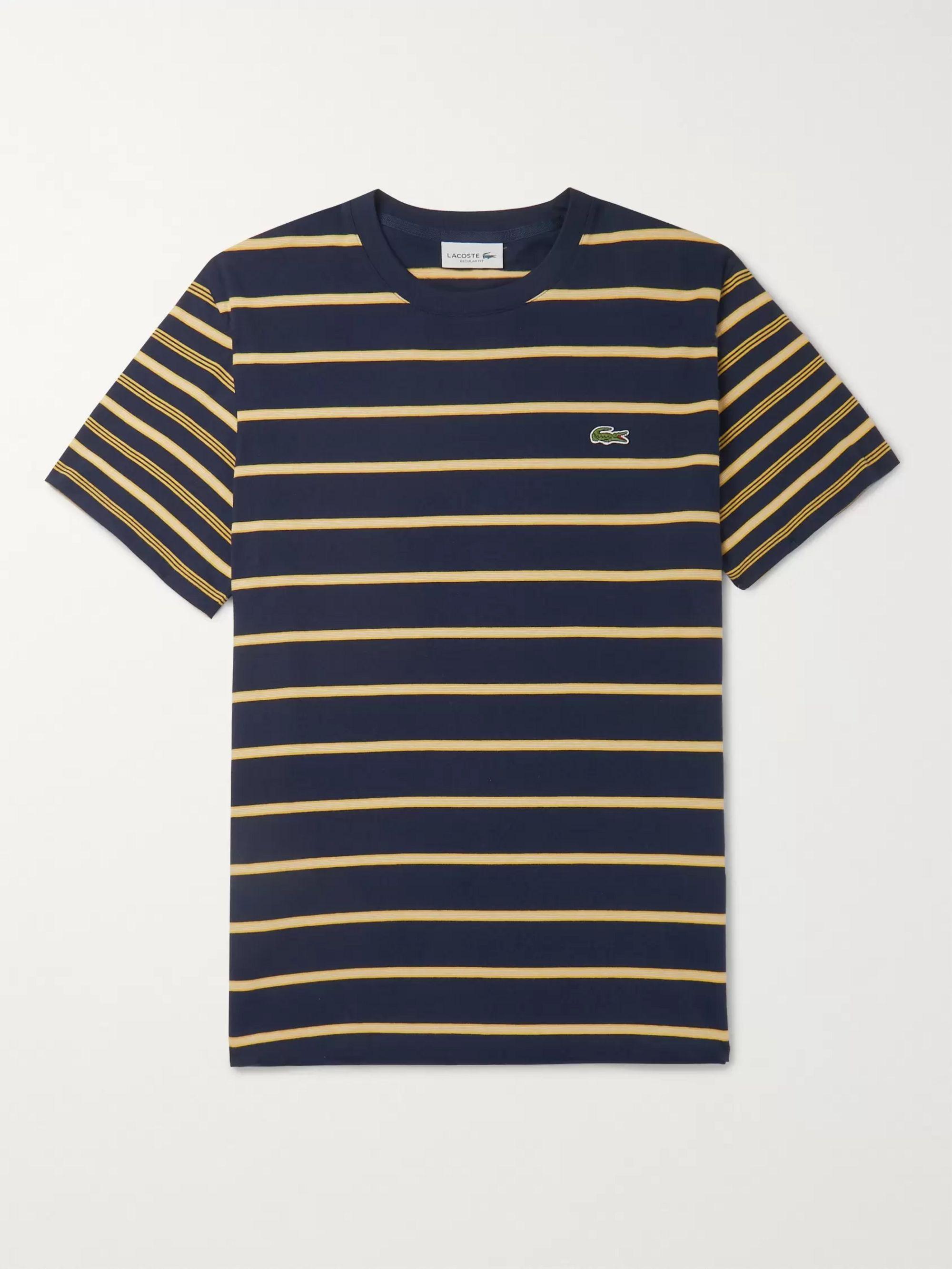 za pół klasyczne buty ponadczasowy design Striped Pima Cotton-Jersey T-Shirt