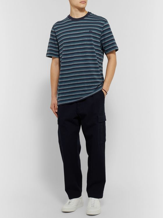 Lacoste Striped Cotton-Piqué T-shirt