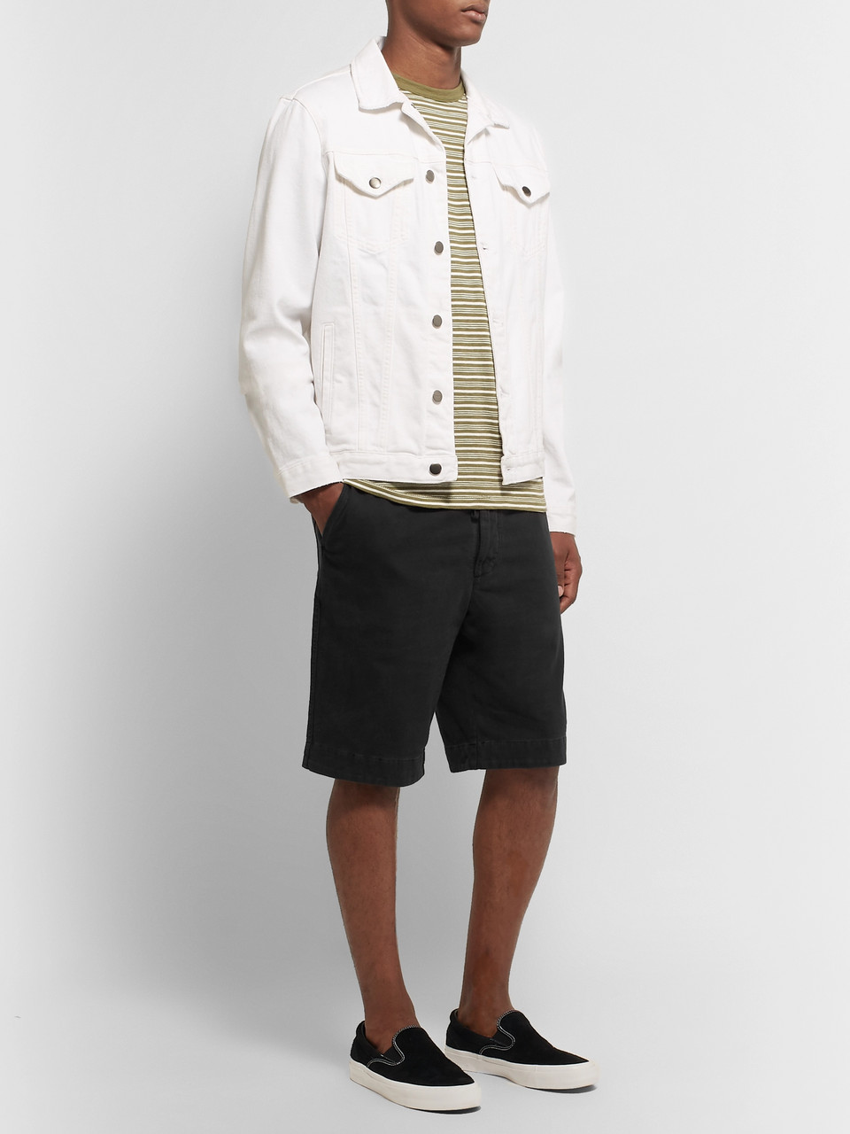 James Perse Slim-Fit Cotton-Jersey Shorts