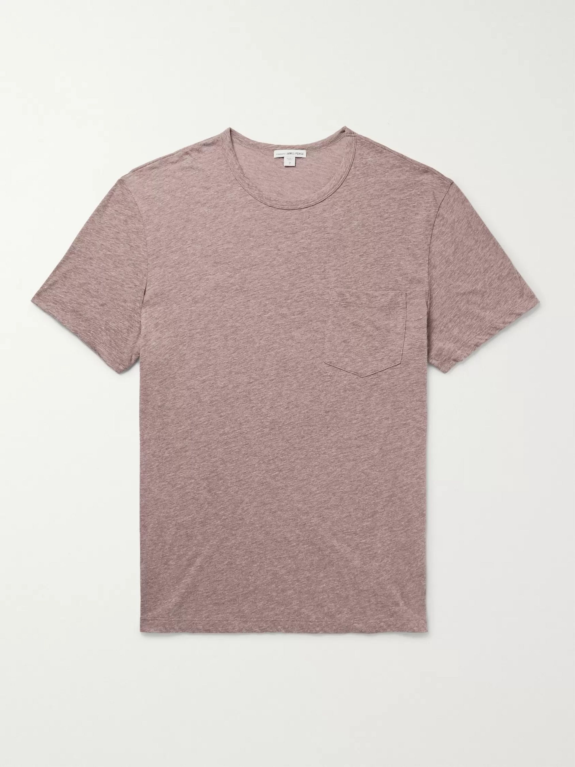 Mélange Cotton Blend Jersey T Shirt by James Perse